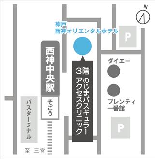 のじまバスキュラーアクセスクリニック マップ